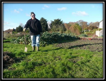 Gardener in Allotments