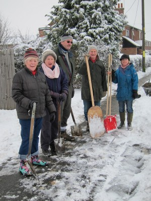 Members of West Bergholt Snow Patrol pictured in early 2012