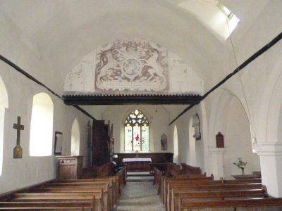 The talk on St Mary's Through Time will discuss the interior of St Mary's featuring the Royal Coat of Arms that will be a subject in