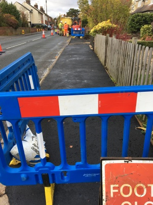 Pavement being improved on Colchester Road